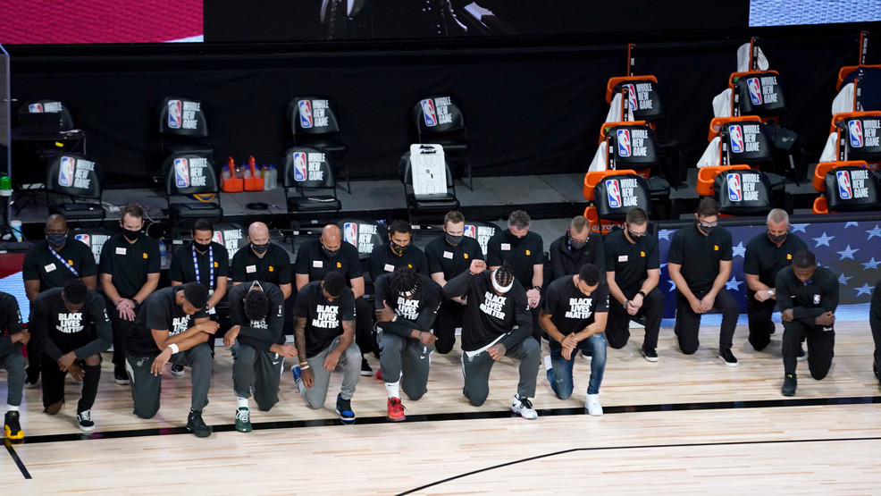 Players Coaches Kneel Before Nba S Re Opening Night Wbma