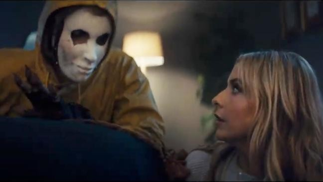 This screen grab from video provided by Olay shows an image from the  company s 2019 Super Bowl NFL football spot featuring Sarah Michelle Gellar. 5ecc0ce3d
