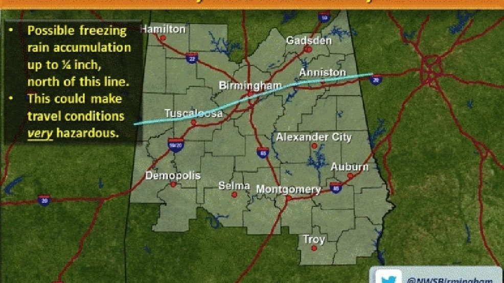 Winter weather advisory for North Alabama | WBMA
