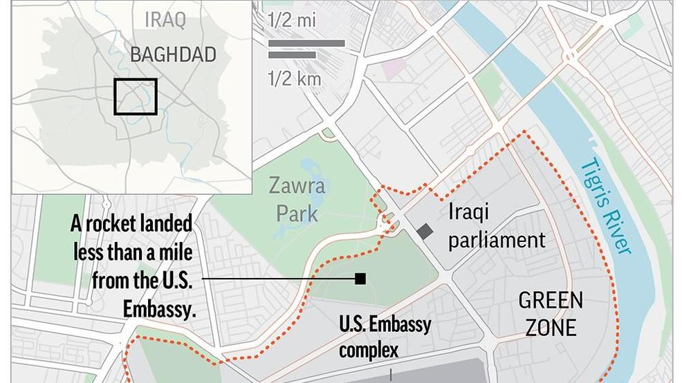 Rocket attack hits near US Embassy in Baghdad\'s Green Zone ...