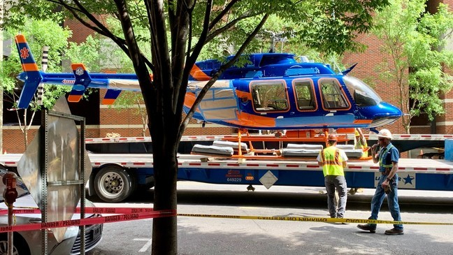 Grounded helicopter at UAB hospital prompts street closures