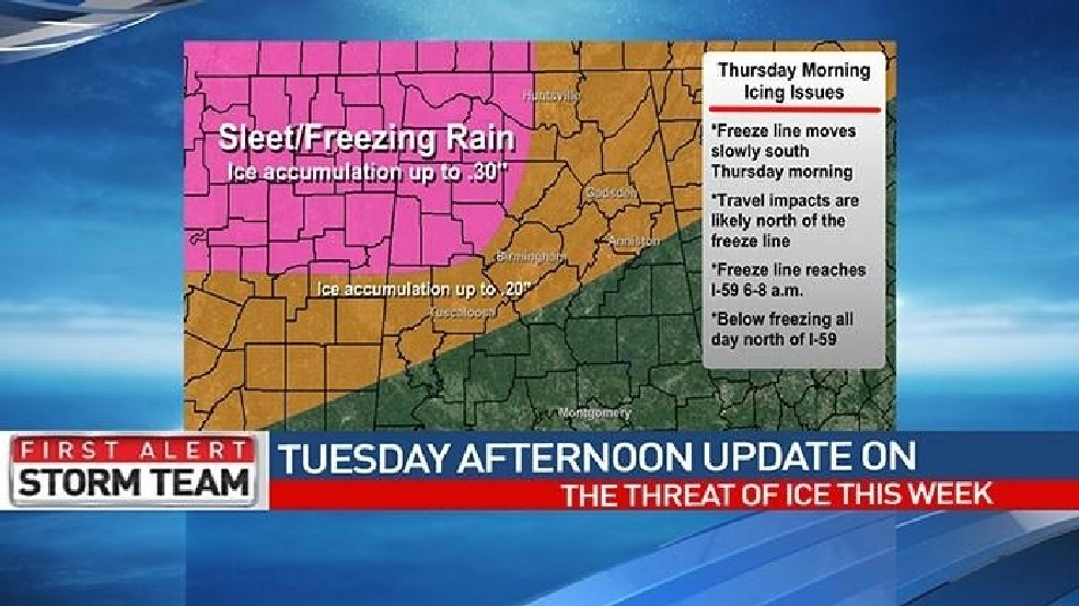 ABC 33/40 Weather: Spann's afternoon update on the threat of