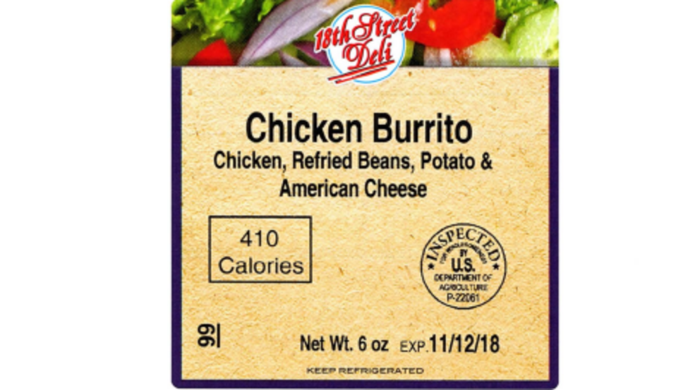 Usda Issues Recall Of Mislabeled Ready To Eat Chicken Burritos Wbma