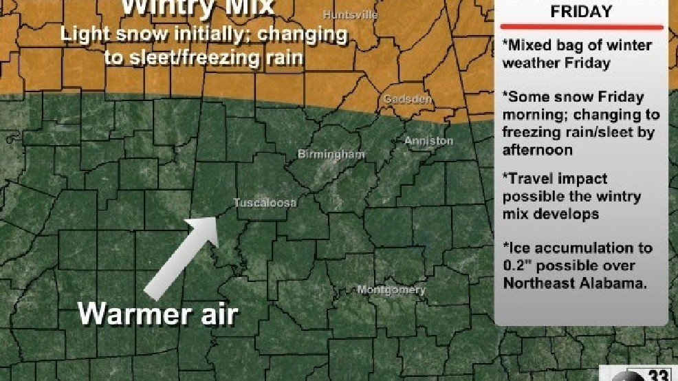 ABC 33/40 Weather: Spann says more winter weather issues for